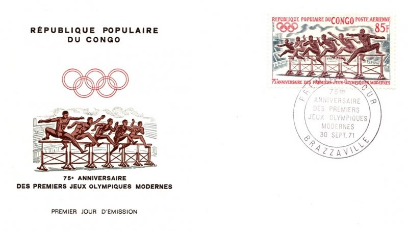 Congo, Worldwide First Day Cover, Olympics