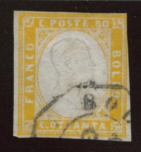 Sardinia Scott 14 Used 1862 Victor Emanuel II CV$410