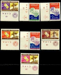 PARAGUAY Sc#850, 852-857 1965 Boy Scout Jamborees Part Set OG Mint NH