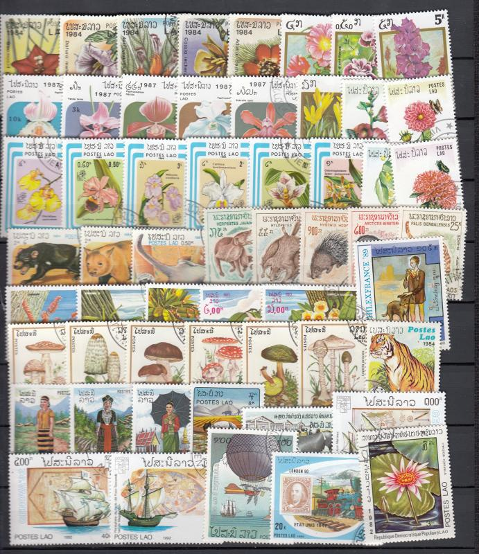 Laos -  110+  stamp Lot - (2988)