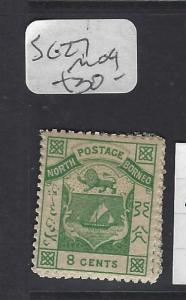 NORTH BORNEO (P2608B) 8 C ARMS, LION  SG 12    MOG