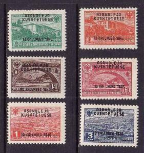 Albania-Sc#367-72-unused NH set overprinted-Constitutional Assembly-1946-
