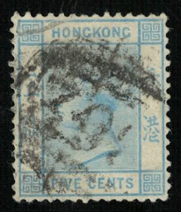 1882, Queen Victoria, Hong Kong, 5 cents (T-9438)