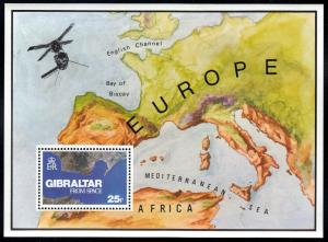 Gibralter #364 S/S Strait of Gibralter Arial View issued in 1978. MNH