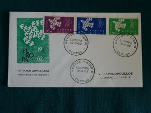 Cyprus 1962 Europa set Unofficial FDC. (B)