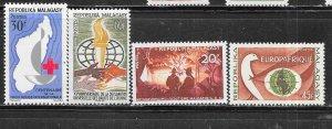 Malagasy Republic #354-357 (MLH) CV $3.55