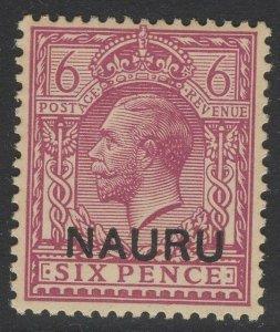 NAURU SG10 1916 6d PURPLE MTD MINT