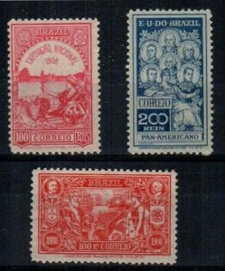 Brazil Scott 189-91 Mint hinged (Catalog Value $48.50)