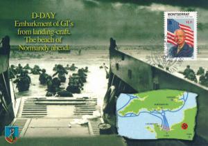 [96908] Montserrat 1998 World War II D-Day Eisenhower First Day Card