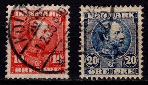 Denmark 1904-05 Christian IX Definitives, Part Set to 20o [Used]