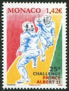 HERRICKSTAMP NEW ISSUES MONACO Sc.# 2890 Albert II Fencing Tournament