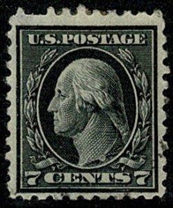 U.S.A. 1914-15 7c BLACK (TYPE 128) VFU SG438 Wmk.w132 P.10 VGC