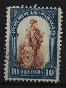 Paraguay 1911 Centenary of the National Independence 10c (1/7) USED