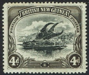 PAPUA 1901 LAKATOI BRITISH NEW GUINEA 4D DEFORMED D VARIETY HORIZONTAL WMK