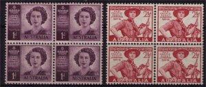 AUSTRALIA - 1948 QEII & Boy Scouts Mini Blocks