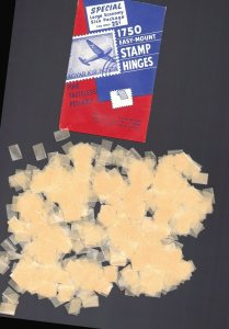 1 OPENED PACKAGE E-MOUNT HINGES  FLAT HINGES H.E. Harris