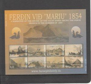 FAROE ISLANDS 442 SOUVENIR SHEET MNH 2014 SCOTT CATALOGUE VALUE $14.00