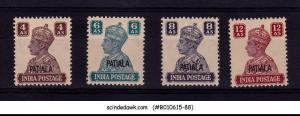 PATIALA STATE - 1944-45 KGVI SG#112-115 - 4V - MINT NH