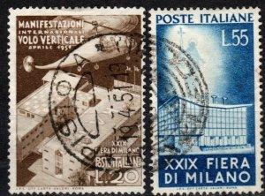 Italy #572-3  F-VF Used  CV $56.90  (X3553)