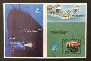 Palau 1998 #459-60 S/S, Deep Sea Robots, MNH.