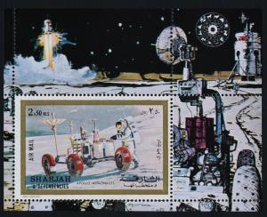 Sharjah MIBK 111A MNH - Apollo, Moon Rover, Space