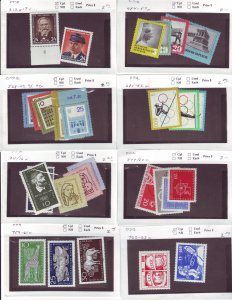 Z650 JLstamps germany DDR mh/mhr with sets in sales cards, all checked & sound
