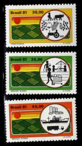 Brazil Scott 1627-1629 MNH** stamp set