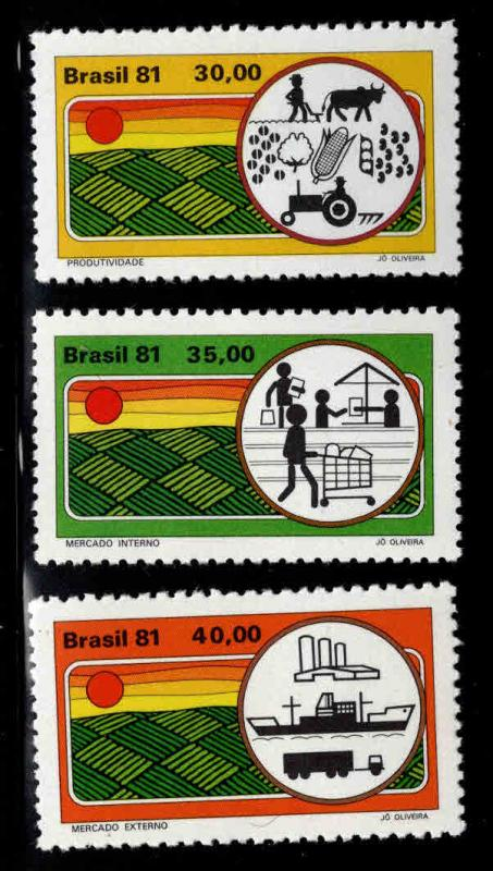 Brazil Scott 1627-1629 MNH** stamp set