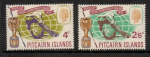 PITCAIRN ISLANDS SG57/8 1966 WORLD CUP FOOTBALL CHAMPIONSHIP MNH