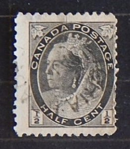 Queen Victoria, 1/2 cent, Canada (1950-T)