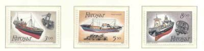 Faroe Islands Sc 158-0 1987 Trawlers stamp set mint NH