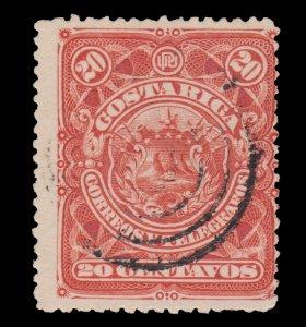 COSTA RICA STAMP 1892 SCOTT # 39. USED. # 2