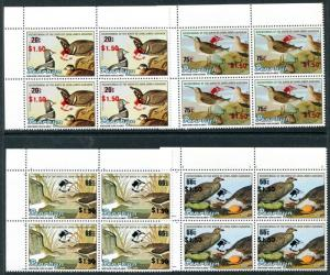 Penrhyn 391-4 MNH Harlequin Duck, Sage Grouse, Solitary Sandpiper, Dunlin x11763