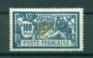 French Offices in Egypt Port Said sc# 91 mhr cat val $6.00