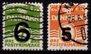 Denmark 1940/1955 Def. Optd., quadrille background perf 13 [Used]