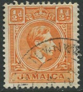 Jamaica -Scott 148 - KGVI Definitive -1951 - Used - Single 1/2p Stamp
