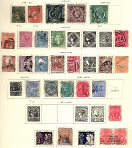 New South Wales 25 diff Used  hinged NC not counted cat $105.00