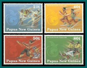Papua New Guinea 1991 South Pacific Games, MNH 771-774,SG651-SG654