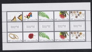 New Zealand # 2069, Personalized Stamps, Sheet, NH, 1/2 Cat.