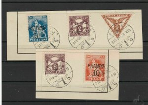 Fiume 1919 Stamps on Piece ref R 17196