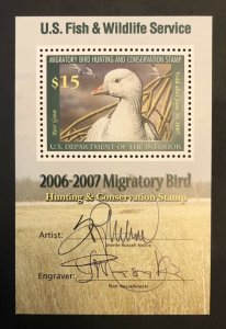TangStamps: US #RW73b PSE Graded 98, MNH, Superb, Artist And Engraver Signatures