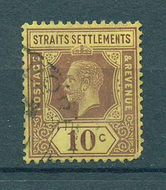 Straits Settlements sc# 158 (4) used cat value $.60