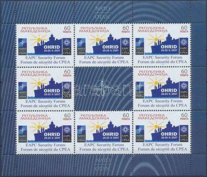 Makedonien stamp NATO minisheet MNH 2007 Mi 437 WS198868