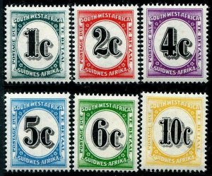 HERRICKSTAMP SOUTH WEST AFRICA Sc.# J96-101 1961 Elusive Dues Mint NH
