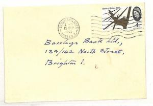 AI51 1965 GB TRANSORMA *2* Machine Sorting Trial Postmark Brighton Bank Cover