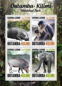 SIERRA LEONE - 2020 - Outamba-Kilimi Nat.Park.-Perf 4v Sheet-Mint Never Hinged