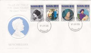Seychelles # 567-70, Zil Elwannyen Sesel # 101-104, 1st Day