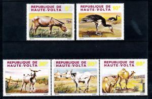 [41635] Burkina Faso Upper volta 1972 Animals Cow Goat Donkey Duck Camel MNH