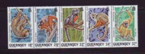 Guernsey Sc 416-20  1989 Zoological Trust Animals stamps NH