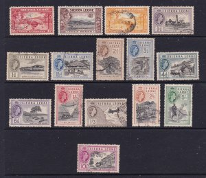 Sierra Leone a small lot of mainly early QE2 used
